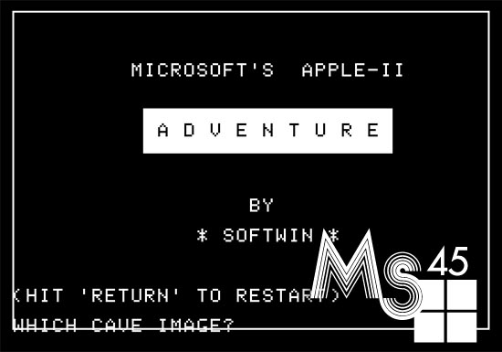 [MS@45] Fun with Vintage Computers: Microsoft Adventure